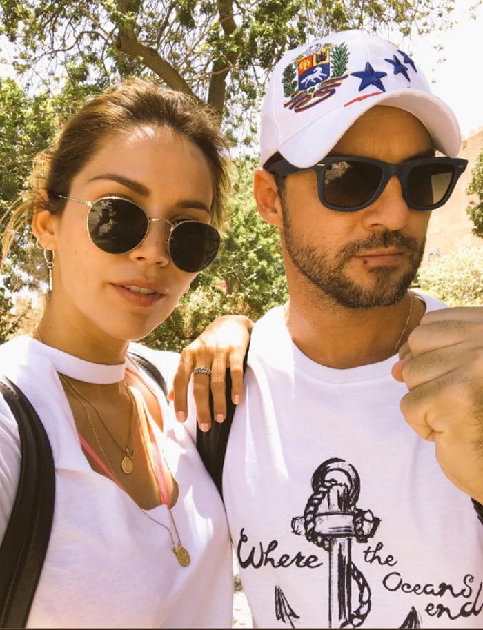 David Bisbal y Rosanna Zanetti, en su escapada a Almería
