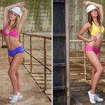 Dos de las chicas del concurso de becarias en Facebook