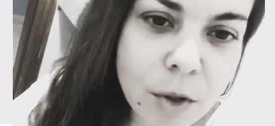 María José Campanario en un momento de su vídeo