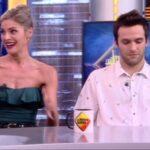 Amaia Salamanca con Ricardo Gómez en 'El Hormiguero'