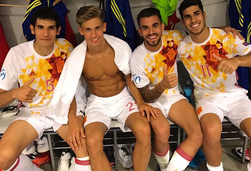 Jesús Vallejo, Marcos Llorente, Dani Ceballos y Marco Asensio