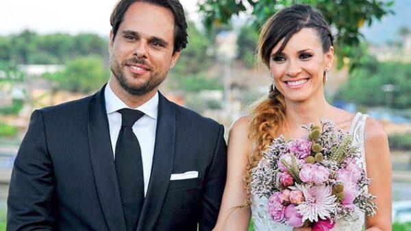 Elena Ballesteros y Juan Antonio Susarte en su boda