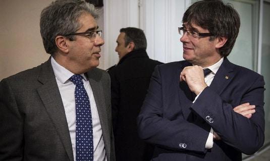 Frances Homs y Carles Puigdemont