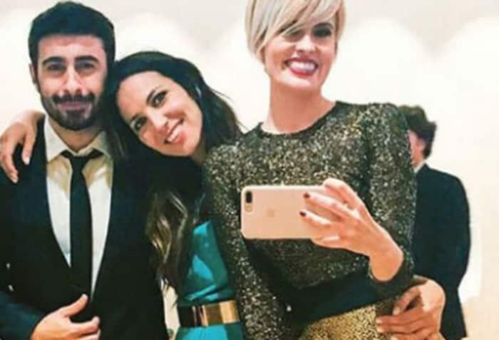 Irene Junquera con el rapero Rayden y Adriana Abenia