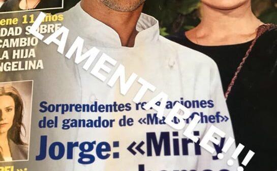 La portada de 'Pronto', con Jorge y Miri