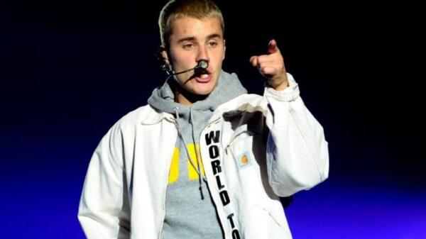 Justin Bieber en un concierto