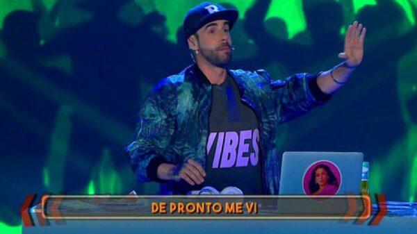 David Carrillo durante su parodia en 'Me lo dices o me lo cantas'