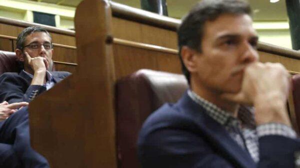 Eduardo Madina y Pedro Sánchez en el Congreso