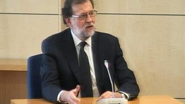 Mariano Rajoy durante su declaración