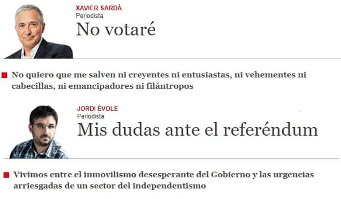 Los artículos en 'El Periódico' de Xavier Sardá y Jordi Évole