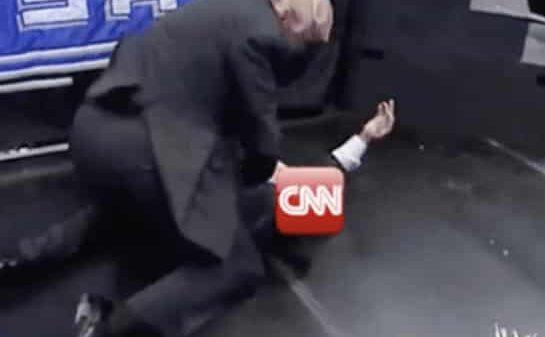 Donald Trump, en un momento del vídeo contra CNN