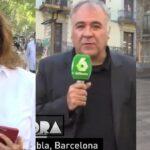 Ana Rosa Quintana, Antonio García Ferreras y Susanna Griso, como reporteros en Barcelona