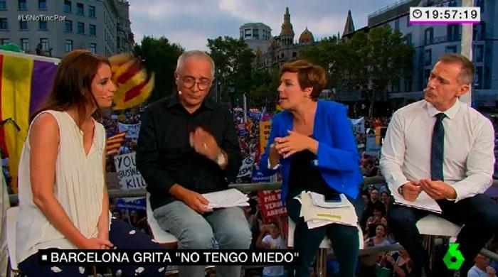 Andrea Levy durante su entrevista en La Sexta