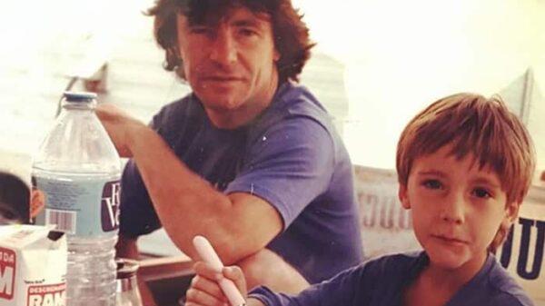 Ángel Nieto con su hijo Pablo