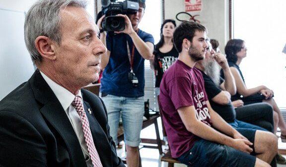 Josep Anglada durante el juicio, celebrado el pasado mes de julio