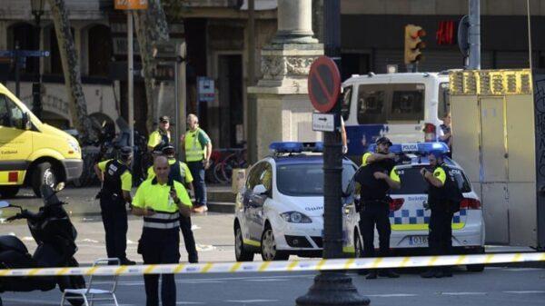 Despliegue policial en La Rambla
