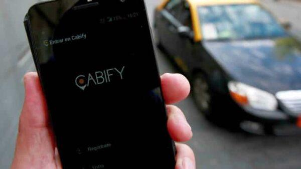 El servicio de Cabify en el móvil