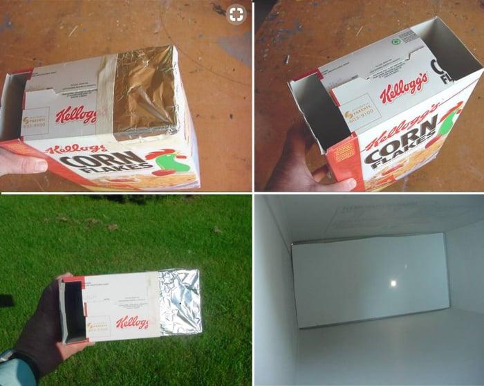Invento casero para ver el eclipse con una caja de cereales