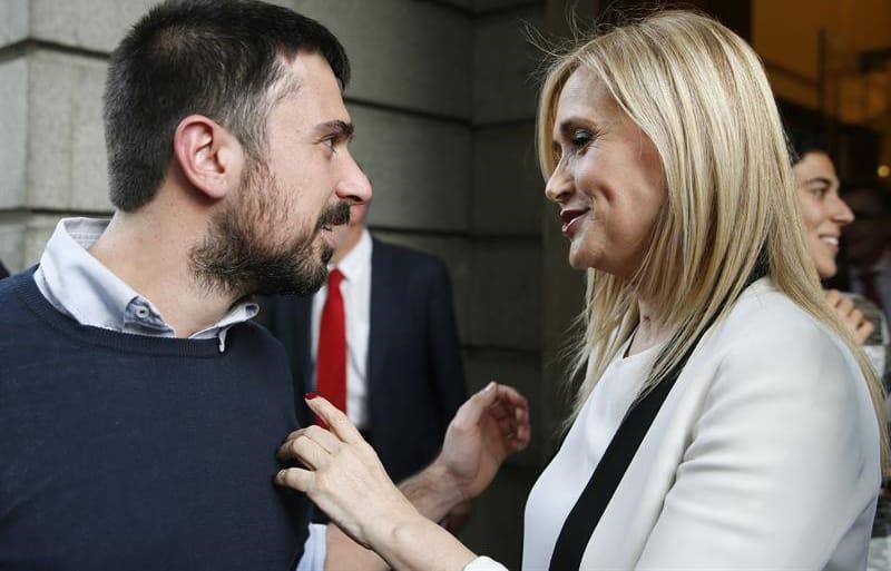 Ramón Espinar y Cristina Cifuentes
