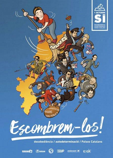 El cartel de la izquierda independentista catalana de cara al referéndum del 1-O