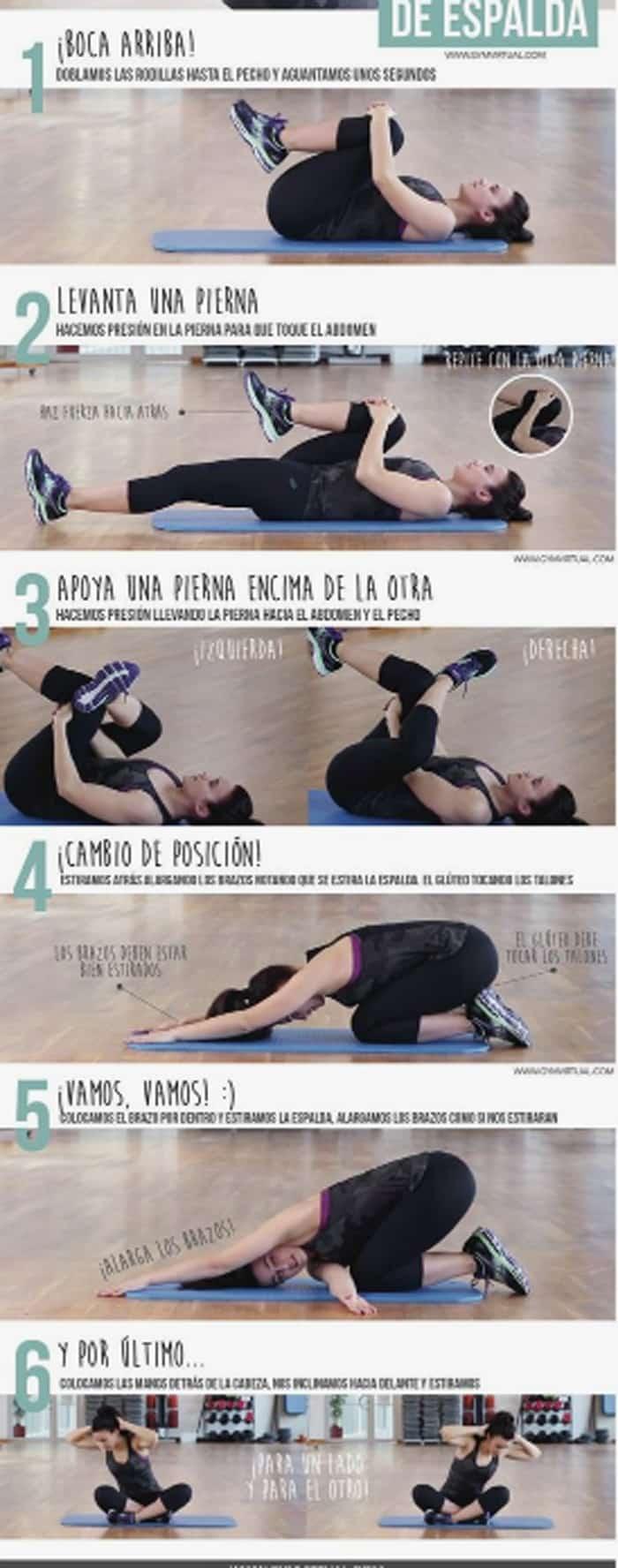 6 ejercicios para no tener dolor de espalda
