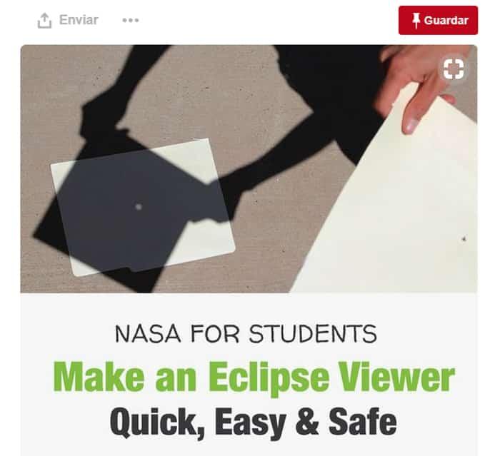 Uno de los inventos para ver el eclipse