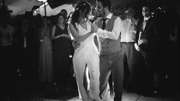 Alberto Garzón en su boda con Anna Ruiz