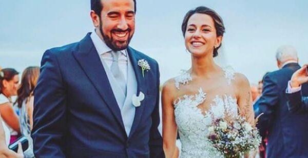 Inés Arrimadas y su marido, Xavier Cima, el día de su boda