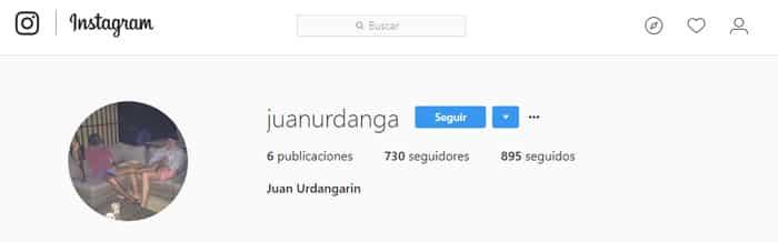 La cuenta en Instagram de Juan Urdangarín