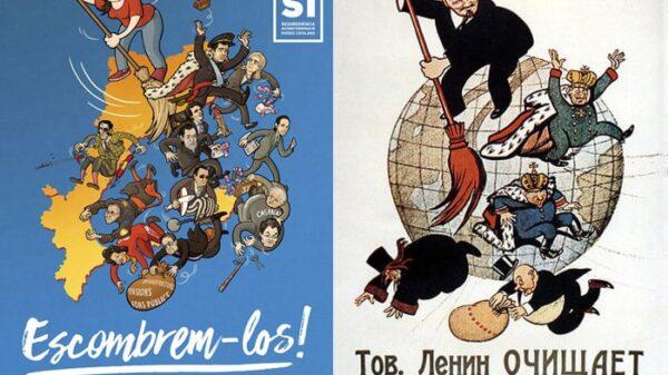 El cartel de la CUP y el utilizado por Lenin