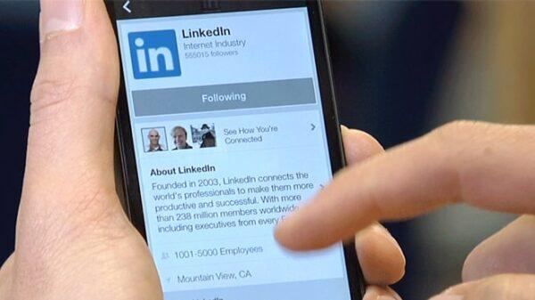 La red social Linkedin en su app para móvil