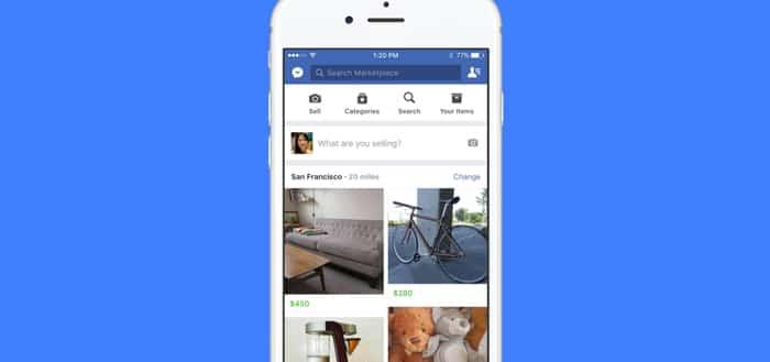 Una visualización de Marketplace en un iPhone