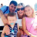 Paco López con su mujer y sus dos sobrinos-nietos poco antes del atentado
