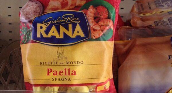 La pasta rellena de paella