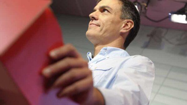 Pedro Sánchez en una rueda de prensa