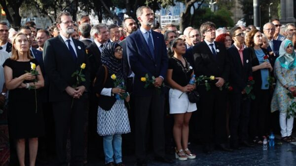 El Rey en la manifestación de Barcelona contra el terrorismo