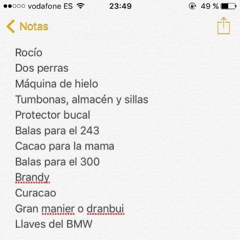 La lista de la compra de Manolo Sanchís