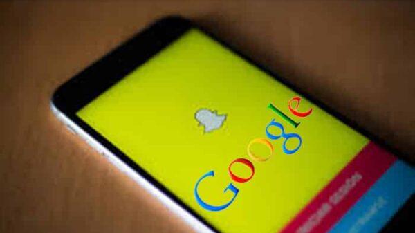 Los logos de Snapchat y Google