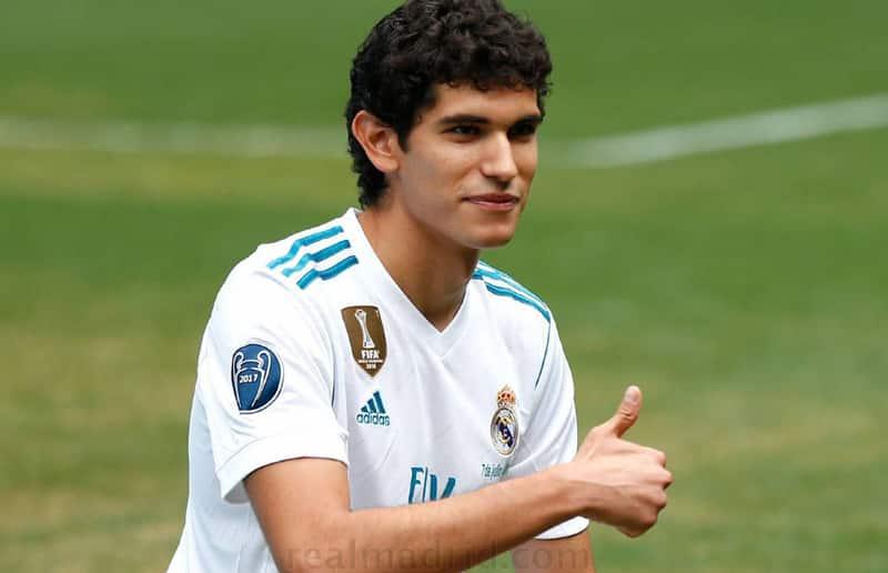 Jesús Vallejo en su presentación como jugador del Real Madrid