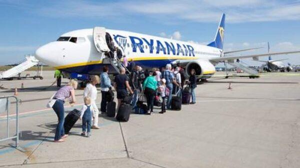 Uno de los aviones de la compañía Ryanair