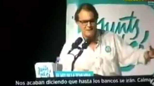 Artur Mas durante su discurso