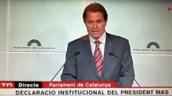 Artur Mas en una declaración institucional
