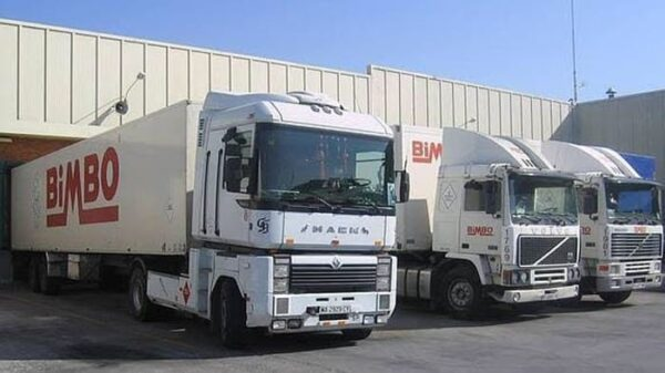Camiones de Grupo Bimbo