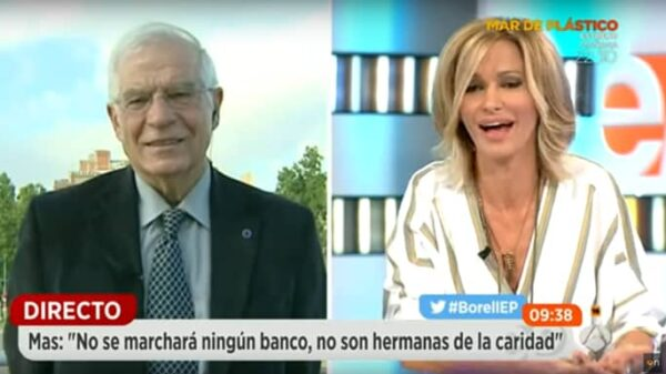 Josep Borrell y Susanna Griso en 'Espejo Público'