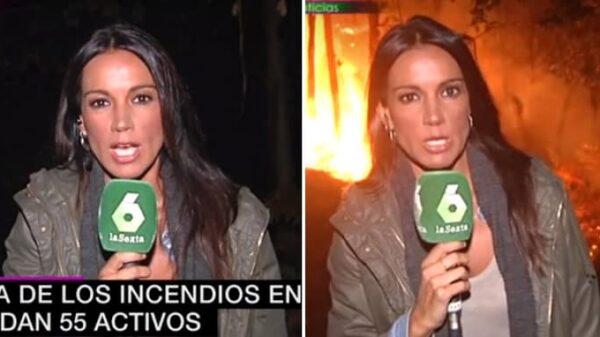 Cristina Saavedra en los incendios de Galicia