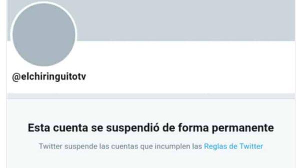 Cuenta suspendida de 'El Chiringuito'