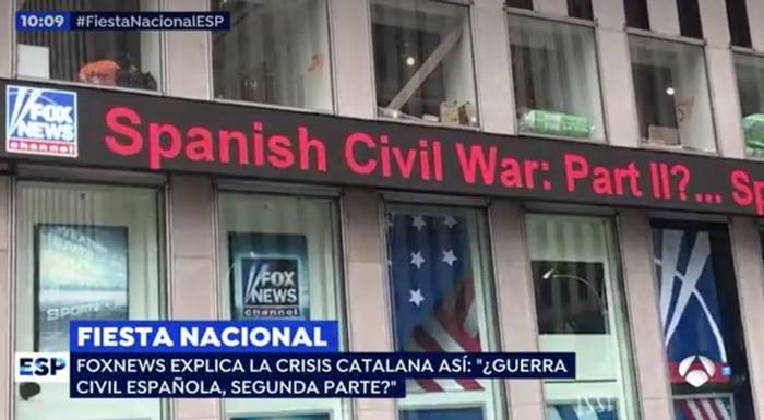 El titular de Fox News