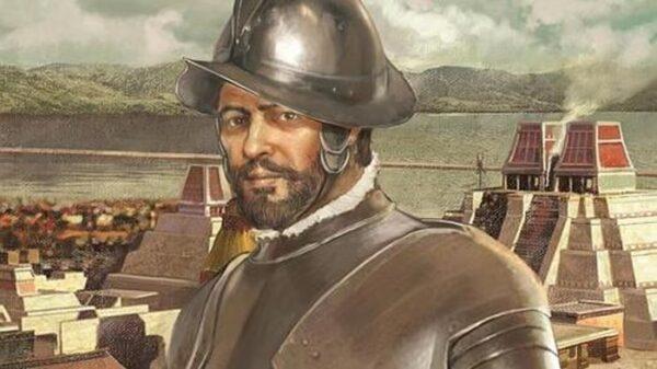 Grabado de Hernán Cortés
