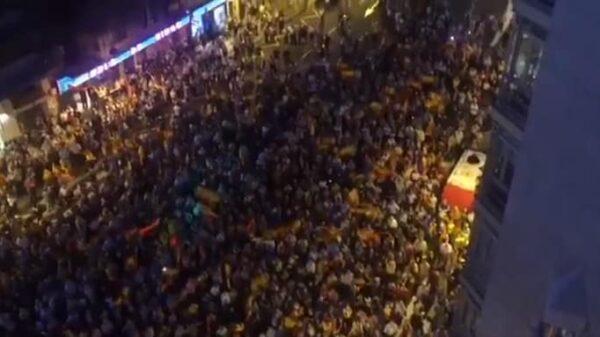 Una de las manifestaciones antiindependentistas en Cataluña