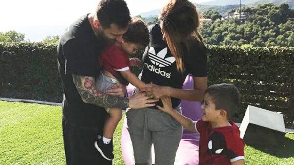 Leo Messi, Antonella y sus hijos